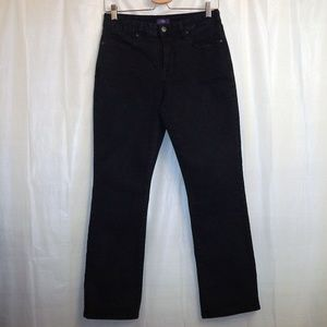 NYDJ Mini Boot Cut Jeans Women's 10P (X 28) Black